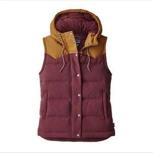 Patagonia women's bivy down vest red yellow
